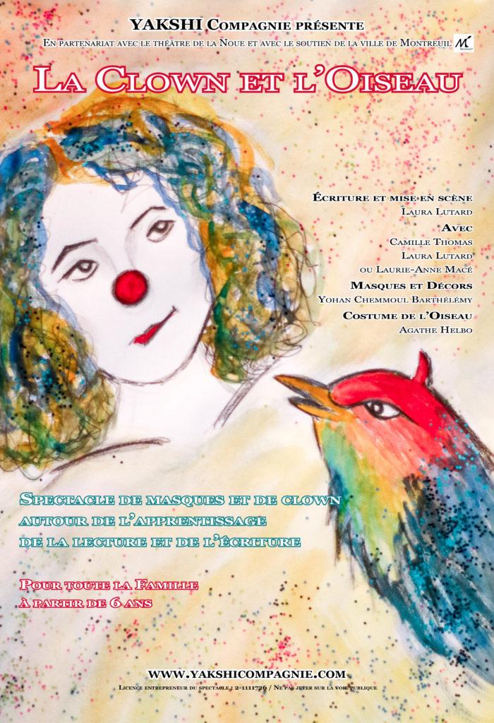 La Clown et l'Oiseau Affiche A3 Sans infos