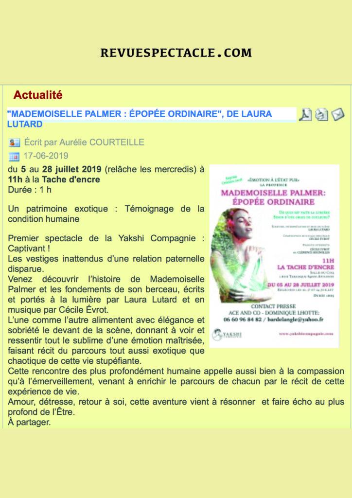 revue spectacles 19 ( v jaune)