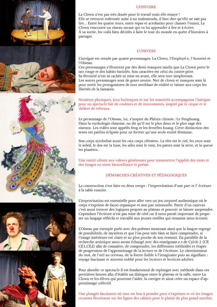 la Clown et l'Oiseau- dossier de présentation4