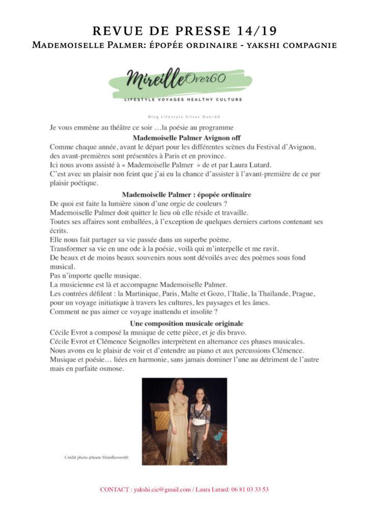 Revue de presse - MLLE PALMER- YAKSHI COMPAGNIE14