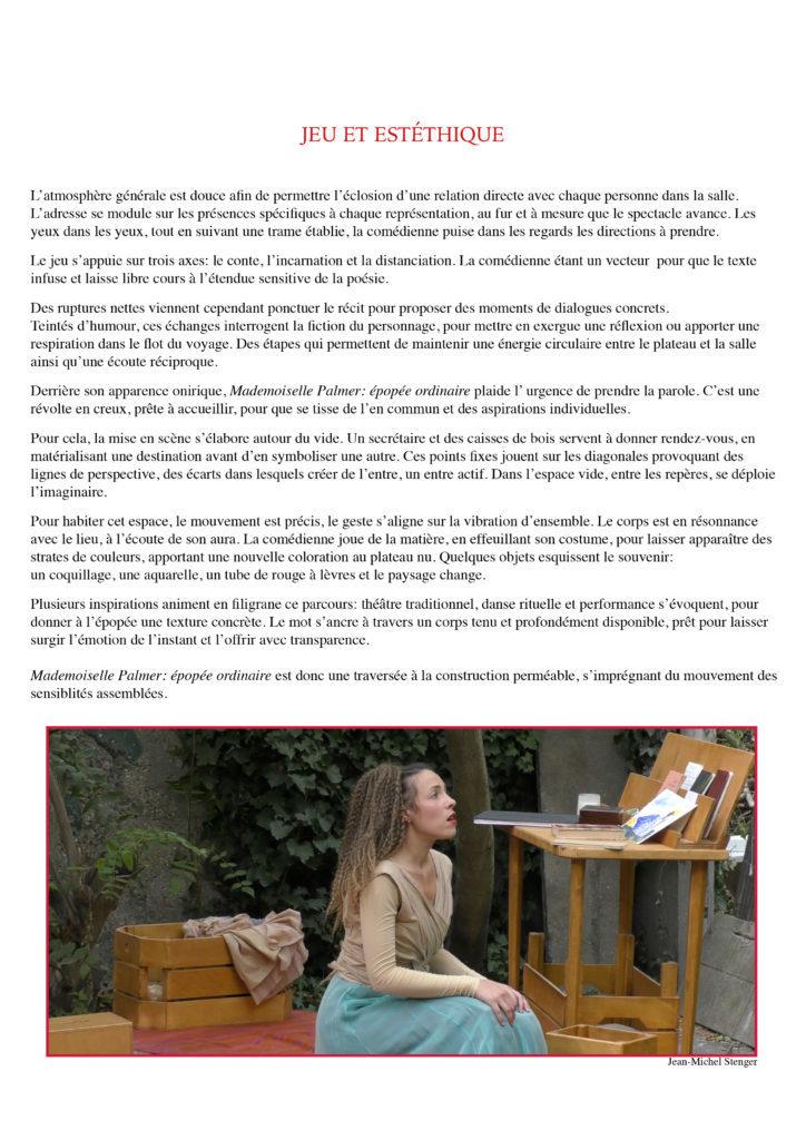Mademoiselle Palmer- YAKSHI Compagnie - 20208