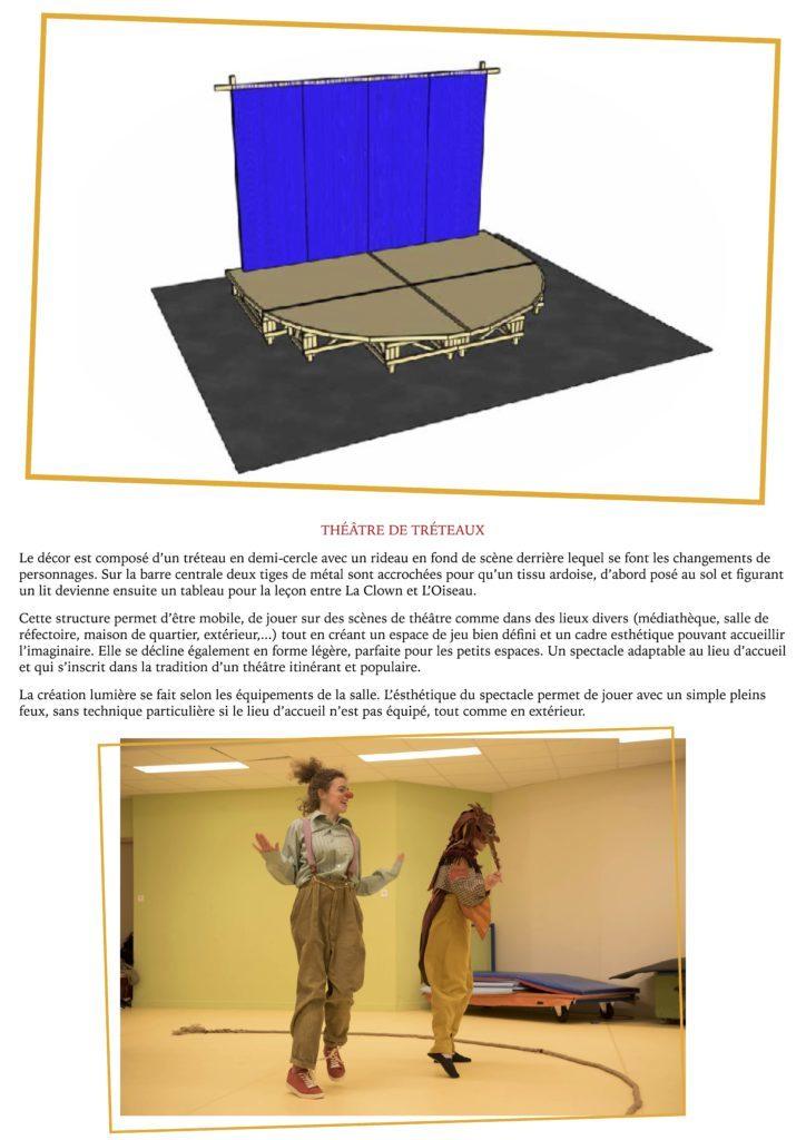 La Clown et l'Oiseau- YAKSHI Compagnie- dossier de présentation2021.6